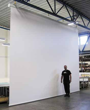 Diplomat XL Flex White 450 x 350 cm video format