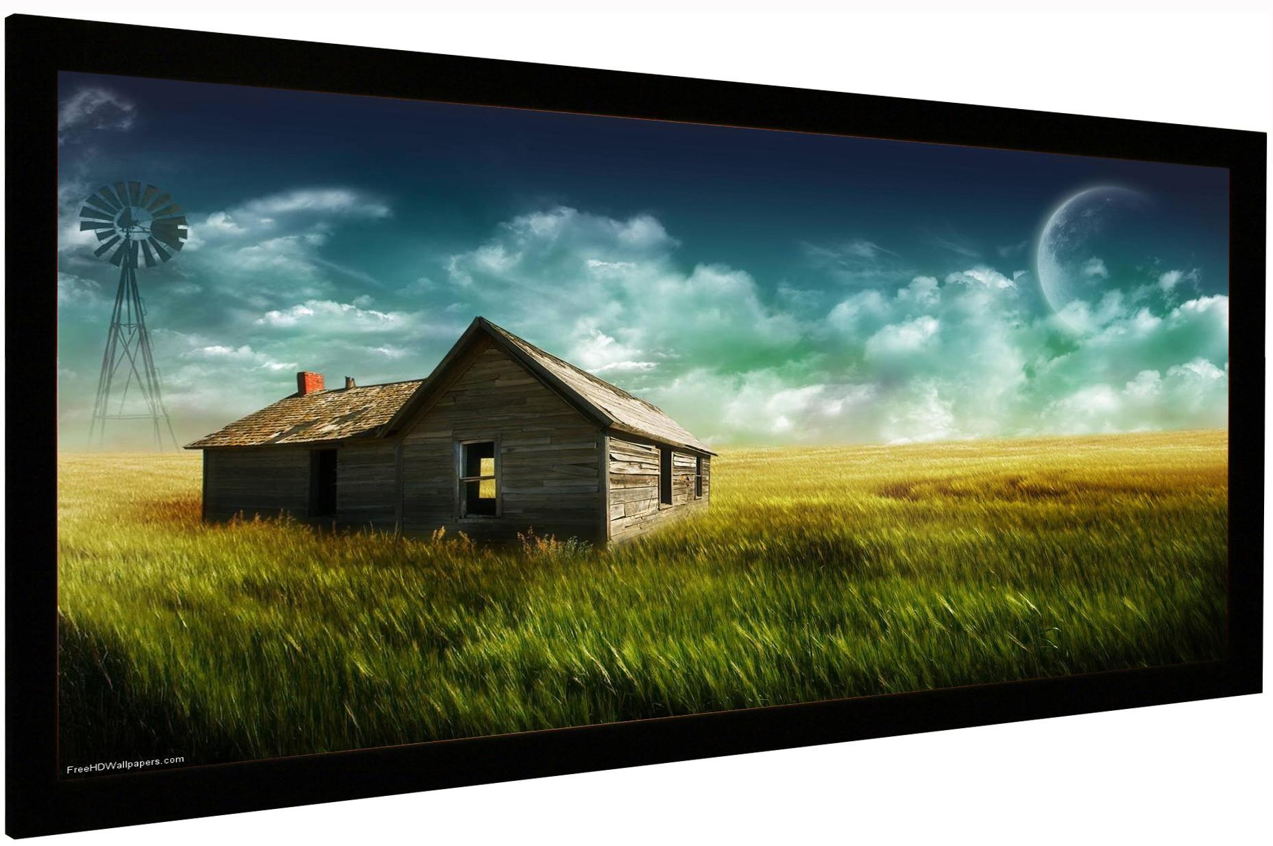 Vision Light 180 x 76,5 cm CinemaScope format med ReAct filmdug