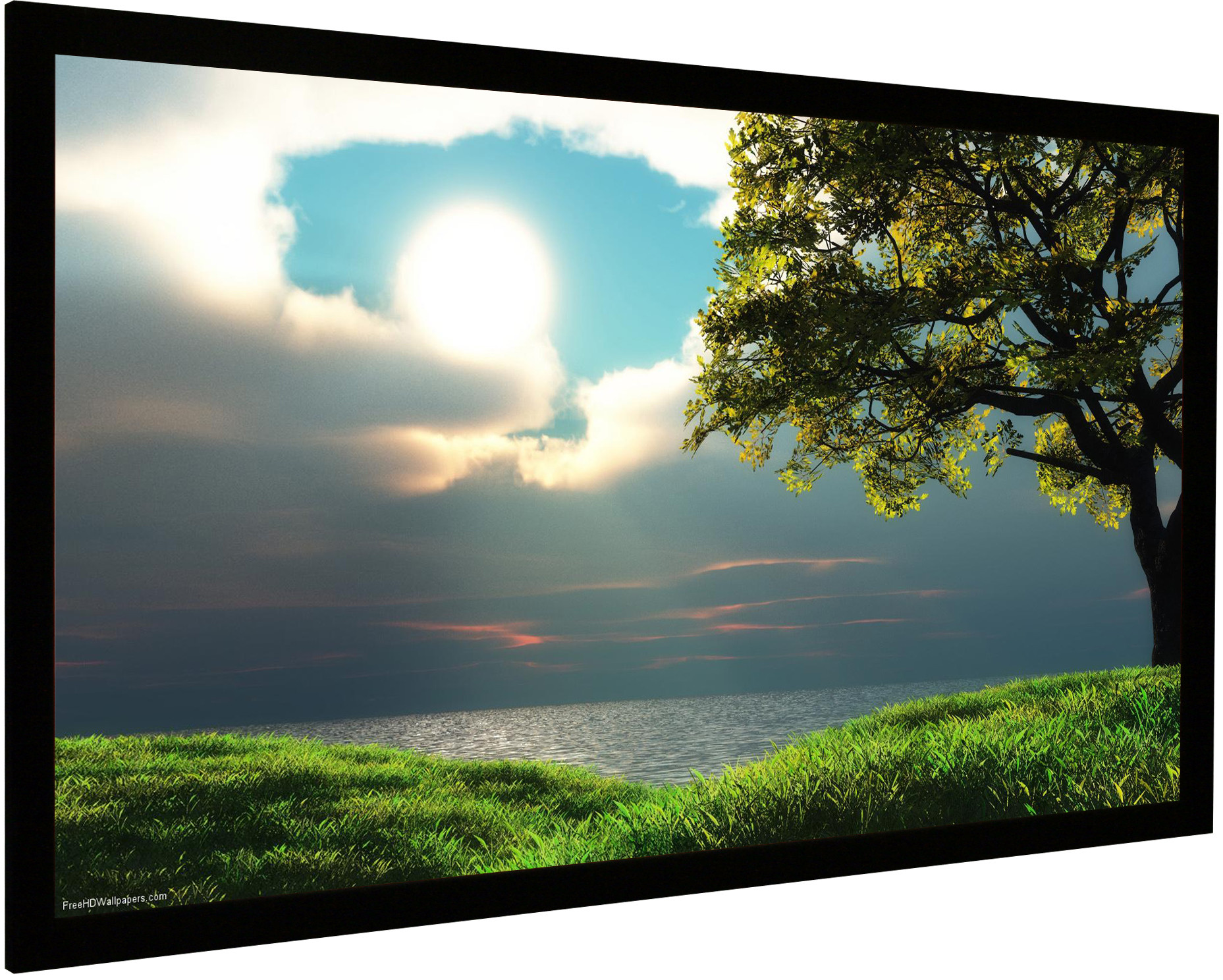 Vision Light 160 x 90 cm widescreen, Veltex og ReAct filmdug
