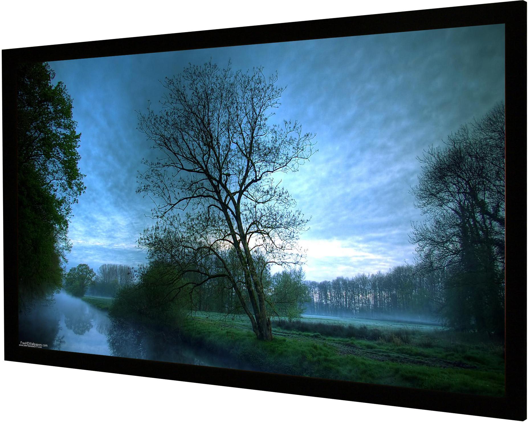 Vision Light 230 x 98 cm CinemaScope og Veltex ramme