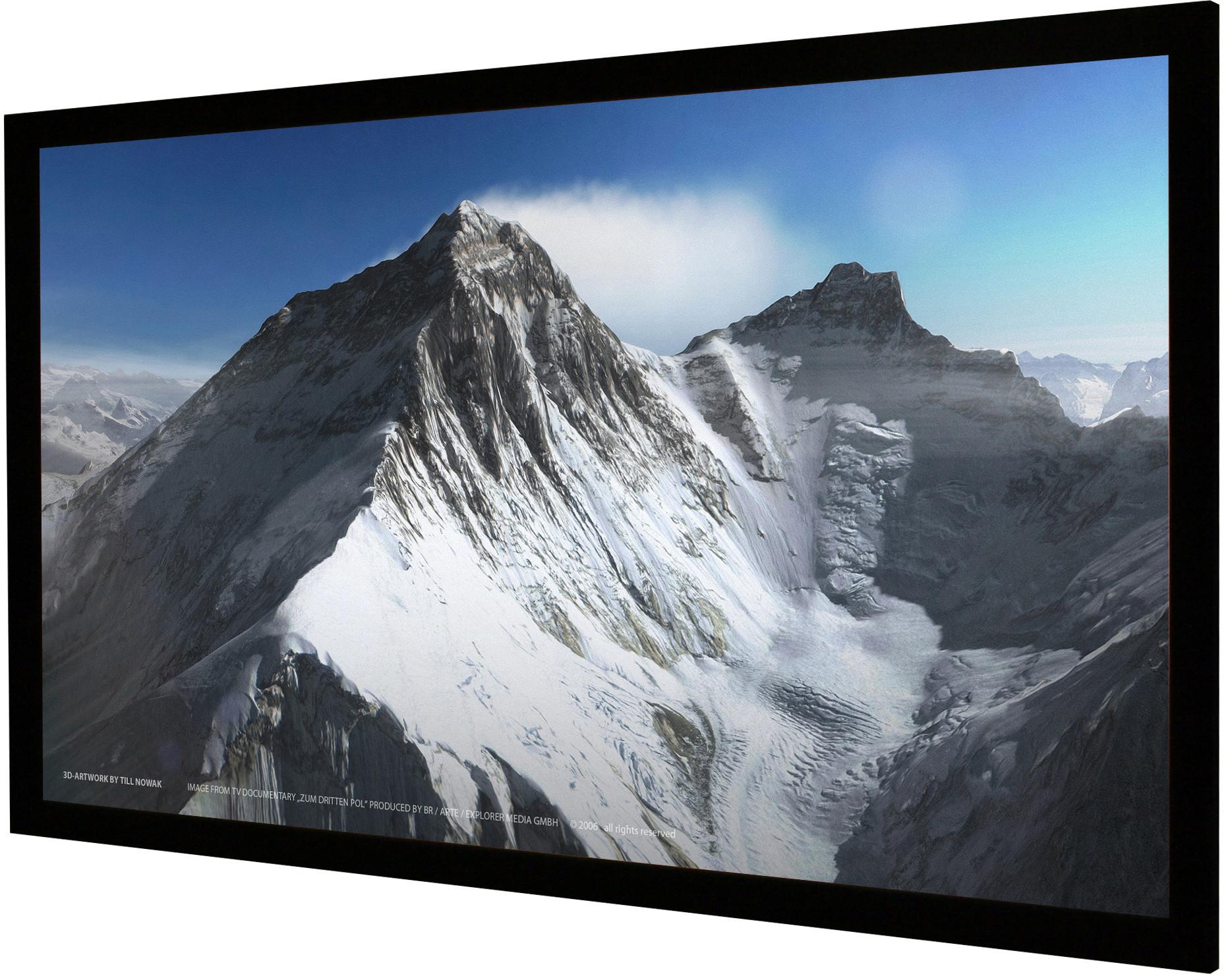 Vision Light 190 x 107 cm widescreen perforeret med Veltex ramme