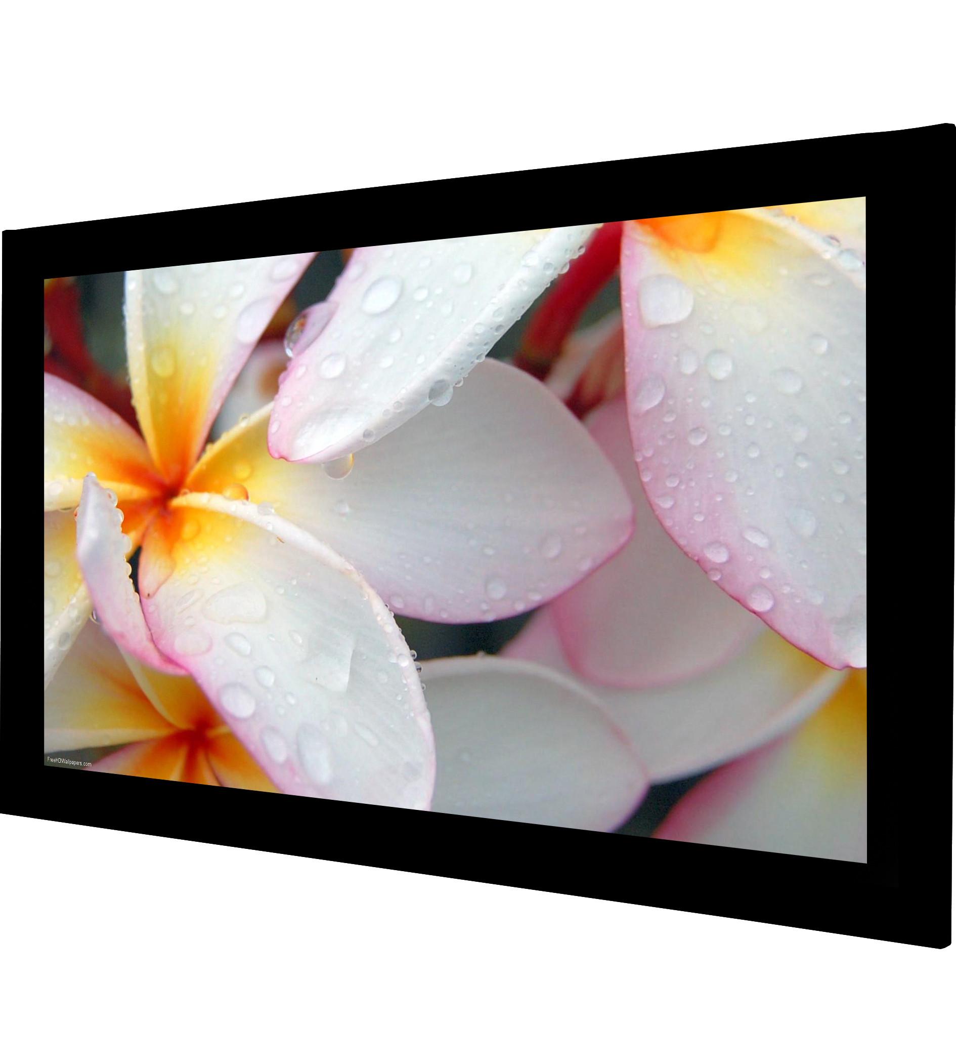 Frame Vision 275 x 172 cm FullHD Flex White filmdug og sort Veltex ramme